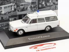 Volvo 145 Express ambulance Opførselsår 1969 hvid 1:43 Atlas
