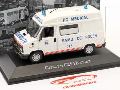 Citroen C25 Heuliez ziekenwagen Bouwjaar 1984 wit 1:43 Atlas