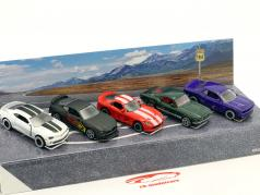 5-Car Set American Muscle Cars Paquete de regalo 1:64 Majorette