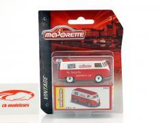 Volkswagen VW T1 Bus Vintage Box rojo / blanco 1:64 Majorette