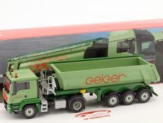 MAN TGS L RuMuSzg camión Geiger verde 1:50 Herpa