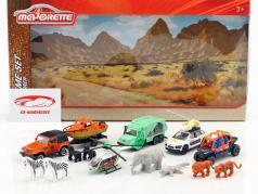 Big Explorer Theme Set 14 piezas Paquete de regalo 1:64 Majorette