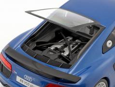 Audi R8 V10 Plus anno 2015 blu 1:18 Maisto