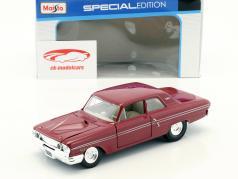 Ford Fairlane Thunderbolt Bouwjaar 1964 donker rood 1:24 Maisto