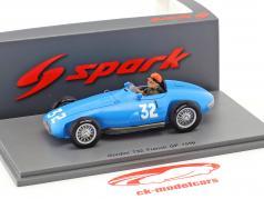 Hernando da Silva Ramos Gordini T32 #32 Frankrig GP formel 1 1956 1:43 Spark