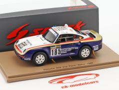 Porsche 959 #185 2e Rallye Paris - Dakar 1986 Ickx, Brasseur 1:43 Spark
