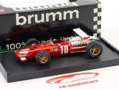 Pedro Rodriguez Ferrari 312 F1 #10 6th italiensk GP formel 1 1969 1:43 Brumm