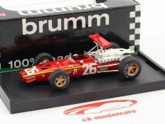 Jacky Ickx Ferrari 312 F1 #26 gagnant France GP formule 1 1968 1:43 Brumm