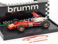Jacky Ickx Ferrari 312 F1 #26 vencedor França GP fórmula 1 1968 com motorista figura 1:43 Brumm