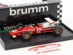 Pedro Rodriguez Ferrari 312 F1 #12 México GP fórmula 1 1969 1:43 Brumm