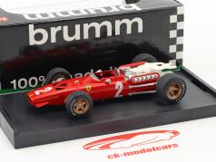 Chris Amon Ferrari 312 F1 #2 Italiaans GP formule 1 1967 1:43 Brumm