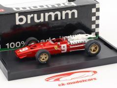 Chris Amon Ferrari 312 F1 #9 6e Nederland GP formule 1 1968 1:43 Brumm
