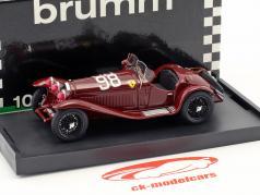 Alfa Romeo 8C 2300 #98 winnaar Mille Miglia 1933 Nuvolari, Compagnoni 1:43 Brumm