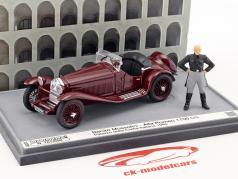 Alfa Romeo 1750 GS Palazzo della Civilta Italiana 1940 med figur B. Mussolini maroon 1:43 Brumm