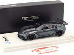 Chevrolet Corvette C7 ZR-1 dark shadow cinza 1:43 TrueScale