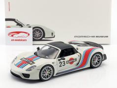 Porsche 918 Spyder #23 Martini Design gray white / red / blue 1:18 Welly