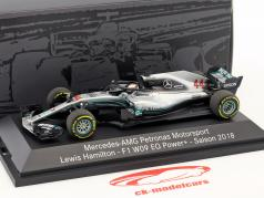 Lewis Hamilton Mercedes-AMG F1 W09 EQ Power+ #44 World Champion Formel 1 2018 1:43 Minichamps
