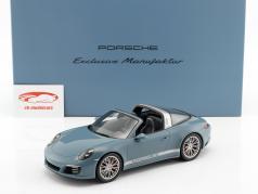 Porsche 911 (991 II) Targa 4S aetna azul com mostruário 1:18 Spark