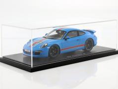 Porsche 911 (991) Carrera S Martini met Vitrine Jaar 2014 blauw 1:18 Spark