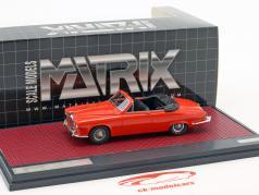 Jaguar 420 Harold Radford converteerbaar Bouwjaar 1967 rood 1:43 Matrix