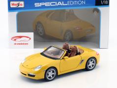Porsche Boxster (987) S Year 2005 yellow 1:18 Maisto