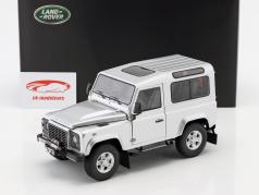 Land Rover Defender 90 gebouwd 2007 indus zilver 1:18 Kyosho
