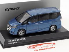 Nissan Serena C27 Bouwjaar 2016 blauw metalen 1:43 Kyosho