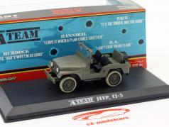 Jeep CJ-5 tv-serie de A-Team (1983-87) army groen 1:43 Greenlight