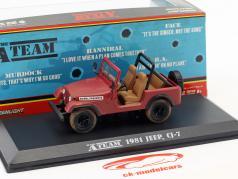 Jeep CJ-7 série de TV o A-Team (1983-87) vermelho 1:43 Greenlight