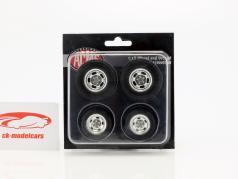 Gasser Dragster ruota e pneumatico Set 1:18 GMP