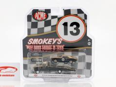 Chevrolet C-30 Ramp Truck 1967 with Chevrolet Trans Am Camaro #13 Smokey Yunick 1:64 GMP
