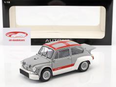 Fiat Abarth 1000 TCR ano 1970 cinza / vermelho 1:18 AUTOart