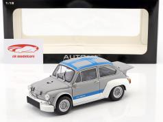 Fiat Abarth 1000 TCR ano 1970 cinza / azul 1:18 AUTOart