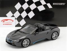 BMW I8 Roadster (I15) year 2018 grey metallic 1:18 Minichamps
