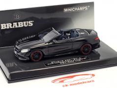 Brabus 850 baseado em Mercedes-Benz AMG S 63 cabriolé ano de construção 2016 preto 1:43 Minichamps