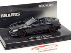 Brabus 850 based on Mercedes-Benz AMG S 63 Cabriolet year 2016 black 1:43 Minichamps