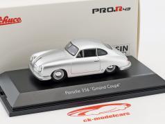 Porsche 356 Gmünd Coupe prata 1:43 Schuco