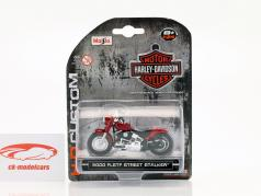 Harley Davidson FLSTF Street Stalker Bouwjaar 2000 rood 1:24 Maisto