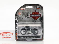 Harley Davidson XL 1200N Nightster ano de construção 2007 preto 1:24 Maisto