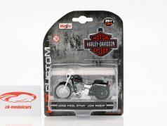 Harley Davidson FXDL Dyna Low Rider anno di costruzione 2002 nero 1:24 Maisto