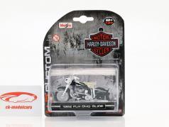 Harley Davidson FLH Duo Glide ano de construção 1962 preto 1:24 Maisto