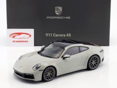 Porsche 911 (992) Carrera 4S Opførselsår 2019 kridt grå 1:18 Minichamps