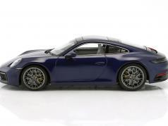 Porsche 911 (992) Carrera 4S 建造年份 2019 龙胆 蓝 1:18 Minichamps