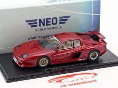 Ferrari Koenig Testarossa Bouwjaar 1985 rood metalen 1:43 Neo