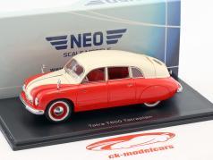 Tatra T600 Tatraplan Bouwjaar 1948 rood / crème wit 1:43 Neo