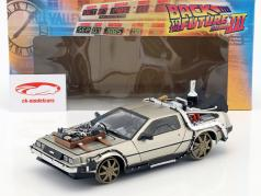 De Lorean DMC 12 Railroad Back to the Future Part 3 1:18 SunStar