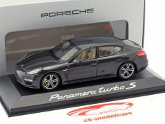 Porsche Panamera Turbo Gen. II Bouwjaar 2014 carbonzuur grijs 1:43 Minichamps
