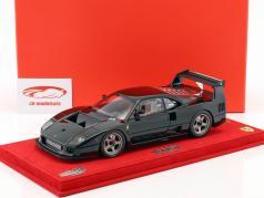 Ferrari F40 LM Bouwjaar 1989 glans zwart met vitrine 1:18 BBR