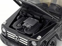 Mercedes-Benz G-Class (W463) year 2015 obsidian black 1:18 iScale