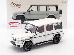 Mercedes-Benz G-classe (W463) ano de construção 2015 polar branco 1:18 iScale